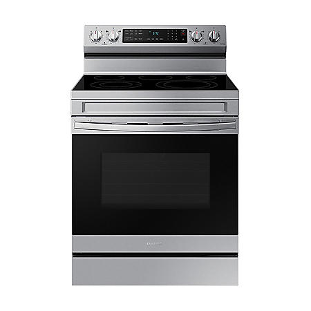 Samsung 6.3 cu. ft. Smart Freestanding Electric Range with No-Preheat Air Fry & Convection