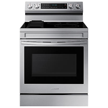 Samsung 6.3 cu. ft. Smart Freestanding Electric Range with No-Preheat Air Fry, Convection+ & Griddle