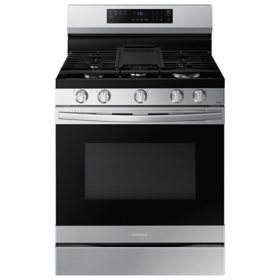 Samsung 6.0 cu. ft. Smart Freestanding Gas Range with No-Preheat Air Fry & Convection