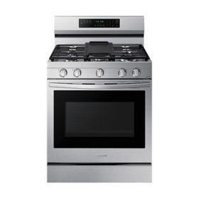 Samsung 6.0 cu. ft. Smart Freestanding Gas Range with No-Preheat Air Fry, Convection+ & Stainless Cooktop