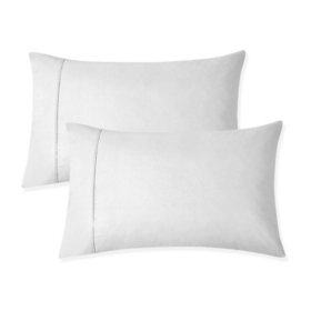 Organic Cotton Brushed Percale Cool & Breathable Pillowcases (Assorted Sizes and Colors)