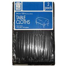 "Daily Chef Rectangular Tablecloth, Black or Burgundy (54"" x 120"", 2pk.)"