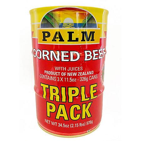 Palm Corned Beef 11.5 oz., 3 pk.)