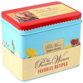 The Pioneer Woman Favorite Recipes Tin with 100 Recipes