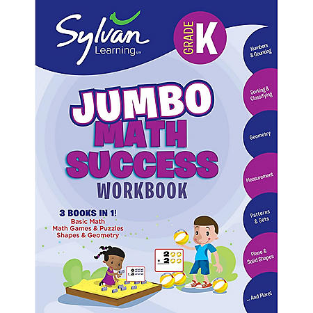 Kindergarten Jumbo Math Success Workbook: Activities, Exercises, and Tips to Help You Catch Up, Keep Up, and Get Ahead