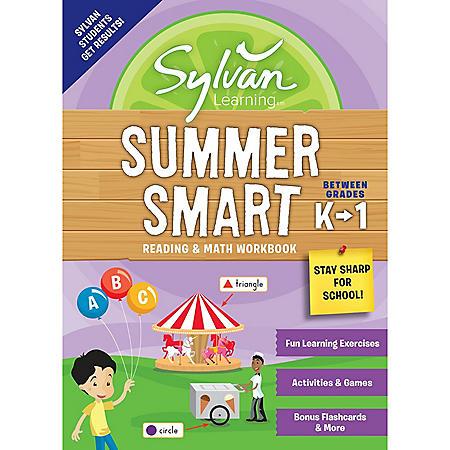 Sylvan Summer Smart Workbook: Between Grades K and 1