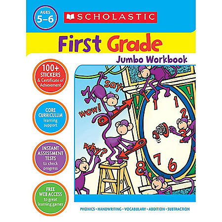 Scholastic First Grade Jumbo Workbook