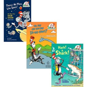 Dr. Seuss Paper Over Board 3 Book Collection: Hark! A Shark!/Oh Say Can you Say Di-no-saur?/There's No Place Like Space
