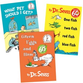 Dr. Seuss Paper Over Board 3 Book Collection: Green Eggs and Ham/One Fist Two Fish Red Fish Blue Fish/What Pet Should I Get