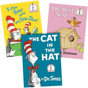 Dr. Seuss Paper Over Board 3 Book Collection: The Cat in the Hat/I Can Read with My Eyes Shut/The Best Nest