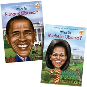 Who Was 2 Pack Book Set: Barack and Michelle Obama