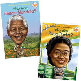 Who Was 2 Pack Book Set: Rosa Parks and Nelson Mandela