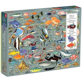 Deepest Dive 1000-Piece Puzzle With Shaped Pieces