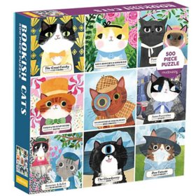 Bookish Cats 500 500-Piece Family Puzzle