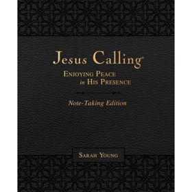 Jesus Calling Note-Taking Edition, Leathersoft, Black, with full Scriptures: Enjoying Peace in His Presence