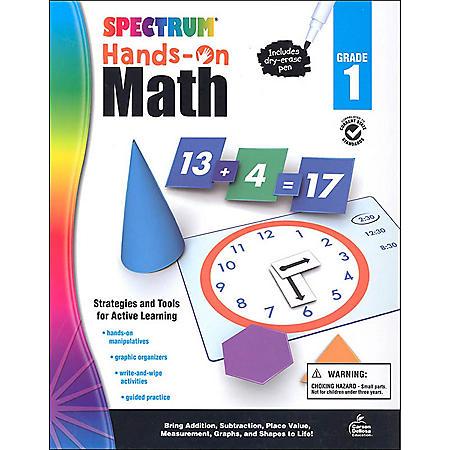 Spectrum Hands-On Math , Grade 1