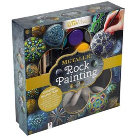 Metallic Rock Painting Activity Kit