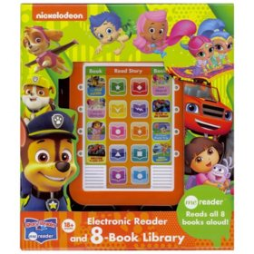 Electronic Reader and 8-Book Library – Various Titles
