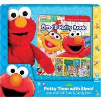 Book, Box and Plush Elmo Potty