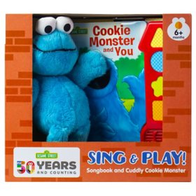 Book Box and Plush Sesame Street Cookie Monster