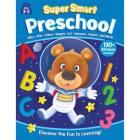 Super Smart Preschool 352 Page Workbook with Stickers