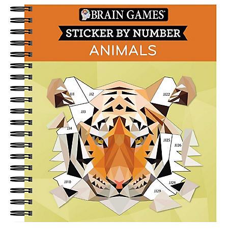 Brain Games - Sticker by Number: Animals