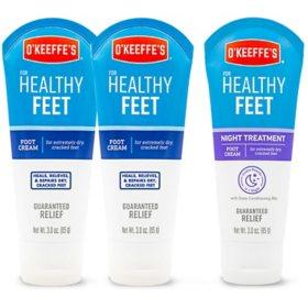 O'Keeffe's Healthy Feet and Healthy Feet Night Treatment (3 oz., 3 pk.)