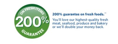 200% Guarantee on Fresh Items