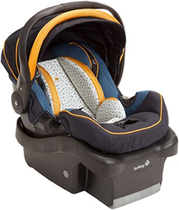 Find an infant car seat that holds up to 35 pounds and offers secure support and conveniently transform into a carrier.