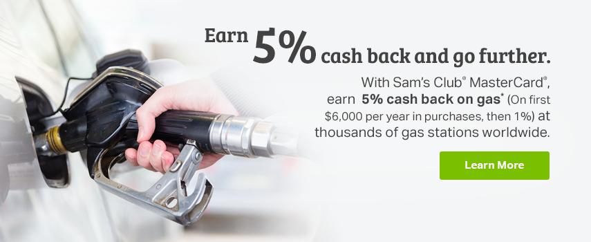 Sam's Savings - Cash back on gas