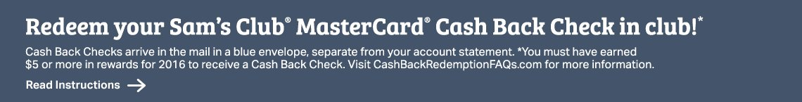 Sam's Club® MasterCard® Cash Back