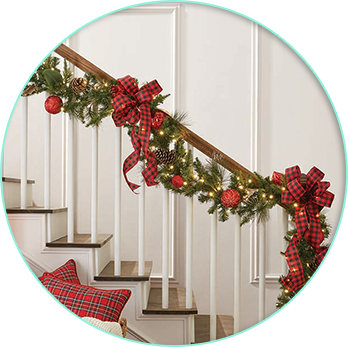 on a banister - Sams Club Outdoor Christmas Decorations