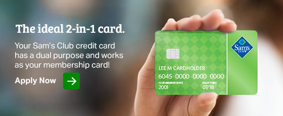 Learn more about how the Sam's Club credit card has a dual purpose and works also as your membership card!