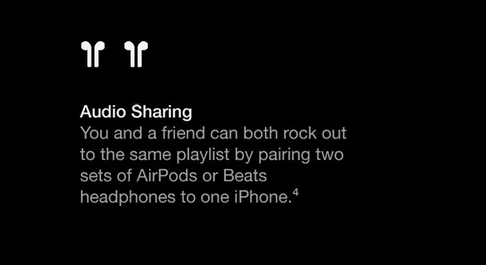 You and a friend can both rock out to the same playlist by pairing two sets of Air Pods or Beats headphones to one iPhone SE.