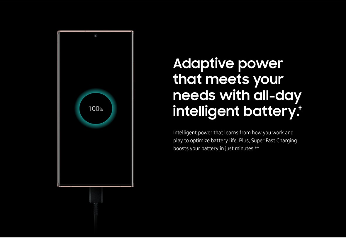 Adaptive power that meets your needs with all-day intelligent battery.