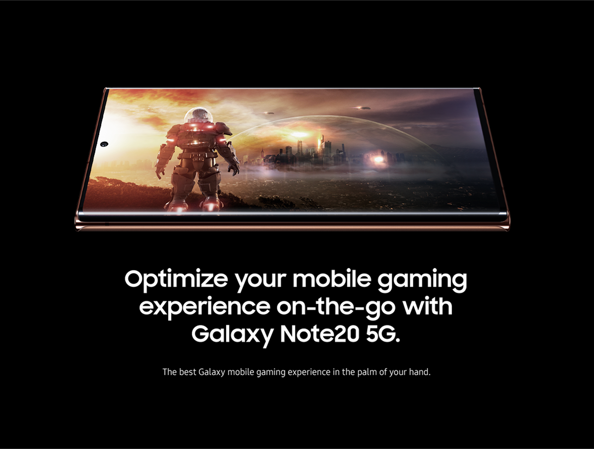 Optimize your mobile gaming experience on-the-go with Galaxy Note20 5G