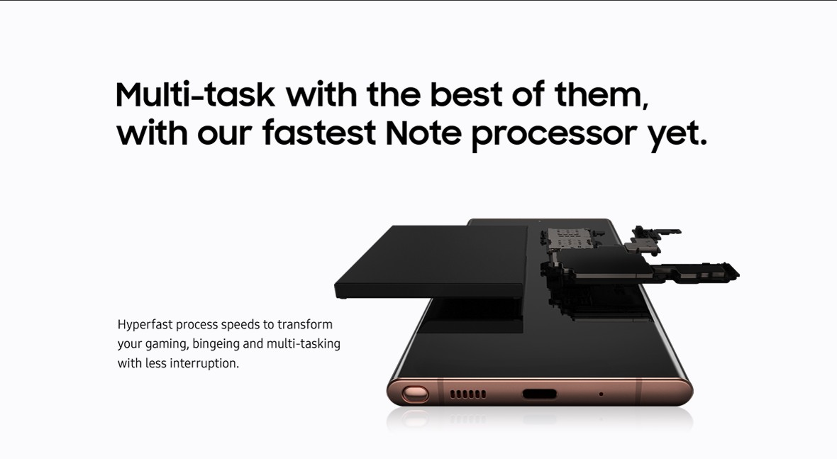 Multi-task with the our fastest Note processor yet.