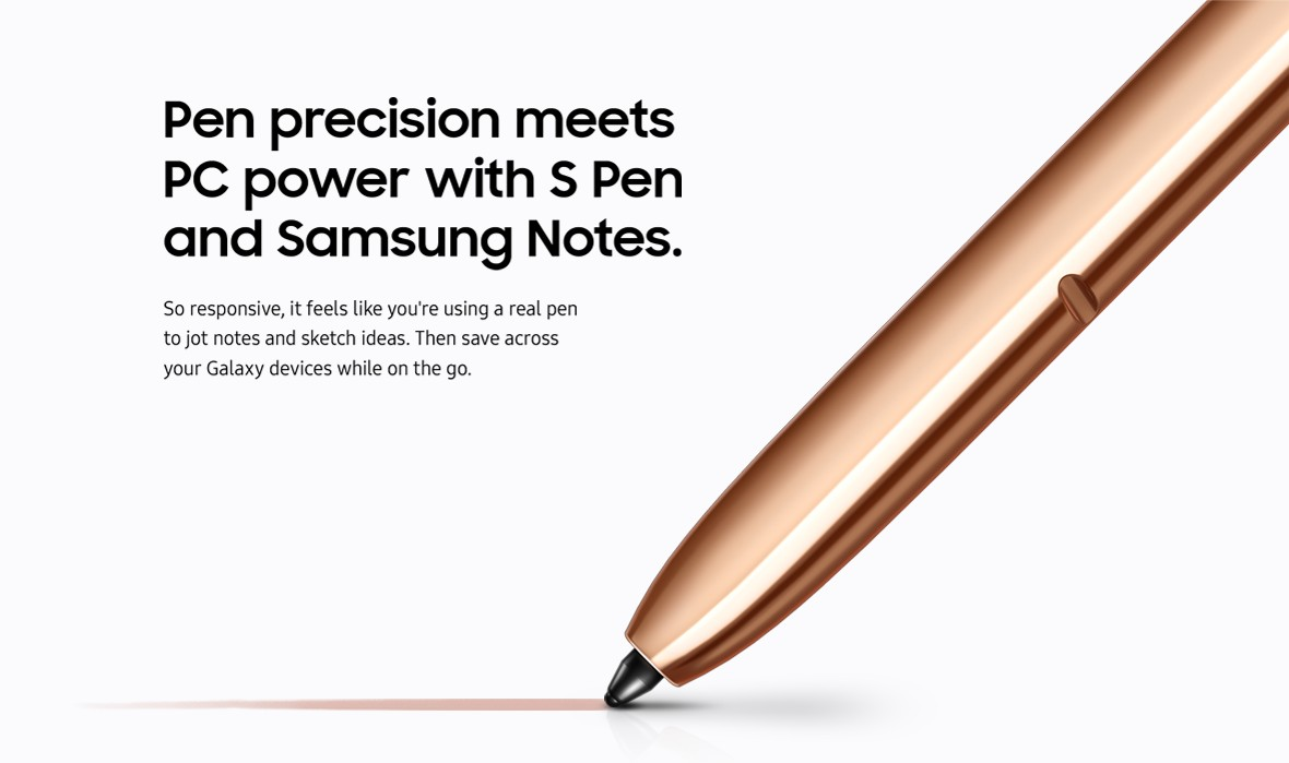 Pen precision meets PC power with S Pen and Samsung notes.
