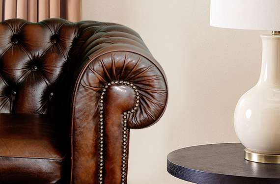 Love leather, but not the high price tag? Curated from various areas of the hide, bonded leather offers an affordable option.