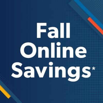 Shop All Fall Savings Event